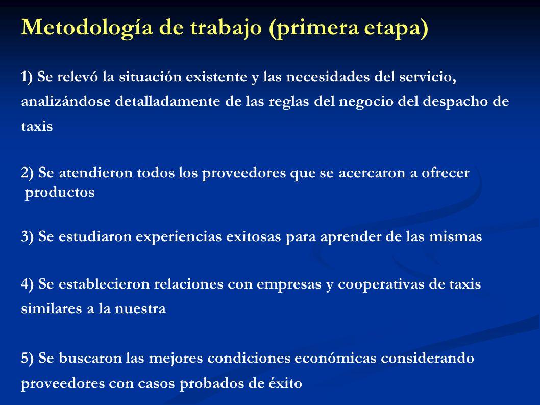 Metodología de trabajo (primera etapa) 1) Se relevó la situación existente y las necesidades del servicio, analizándose detalladamente de las reglas d
