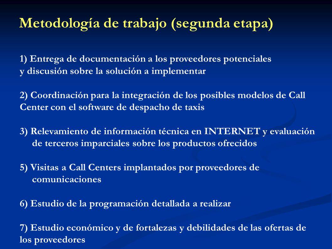1) Entrega de documentación a los proveedores potenciales y discusión sobre la solución a implementar 2) Coordinación para la integración de los posib
