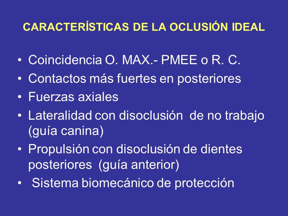 OCLUSIÓN FISIOLÓGICA Oclusión con un grado de acercamiento variable a la ideal, que permite al individuo el buen cumplimiento de las funciones del Sistema Estomatognático