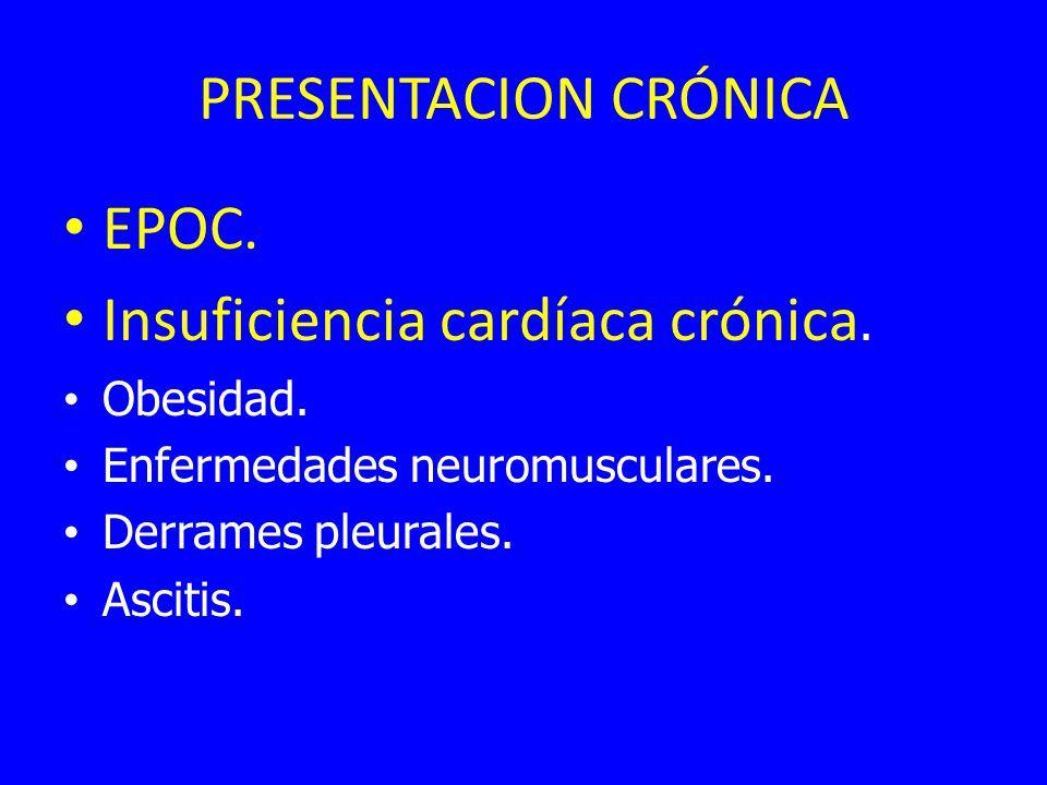 PRESENTACION CRÓNICA EPOC.Insuficiencia cardíaca crónica.