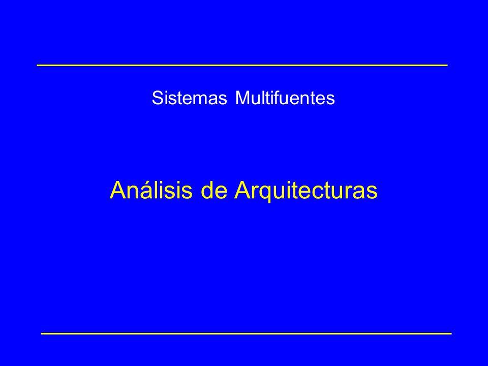 Análisis de Arquitecturas Sistemas Multifuentes