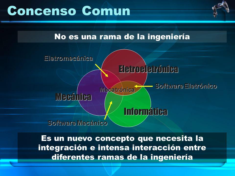Concenso Comun No es una rama de la ingeniería Es un nuevo concepto que necesita la integración e intensa interacción entre diferentes ramas de la ing