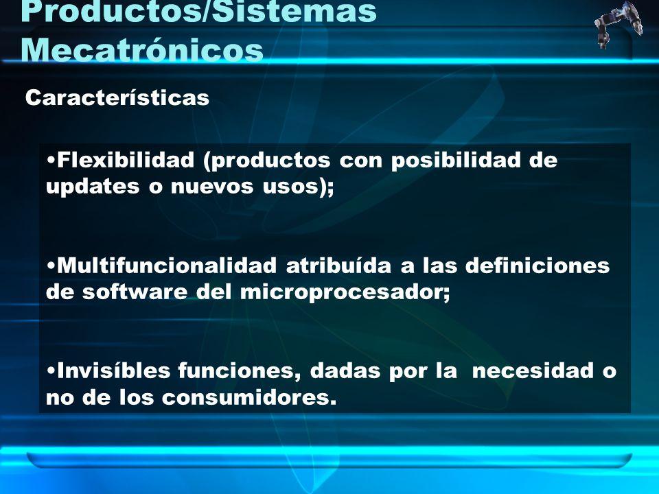 Productos/Sistemas Mecatrónicos Flexibilidad (productos con posibilidad de updates o nuevos usos); Multifuncionalidad atribuída a las definiciones de
