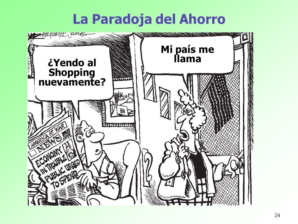 La Paradoja del Ahorro ¿Yendo al Shopping nuevamente? Mi país me llama 24