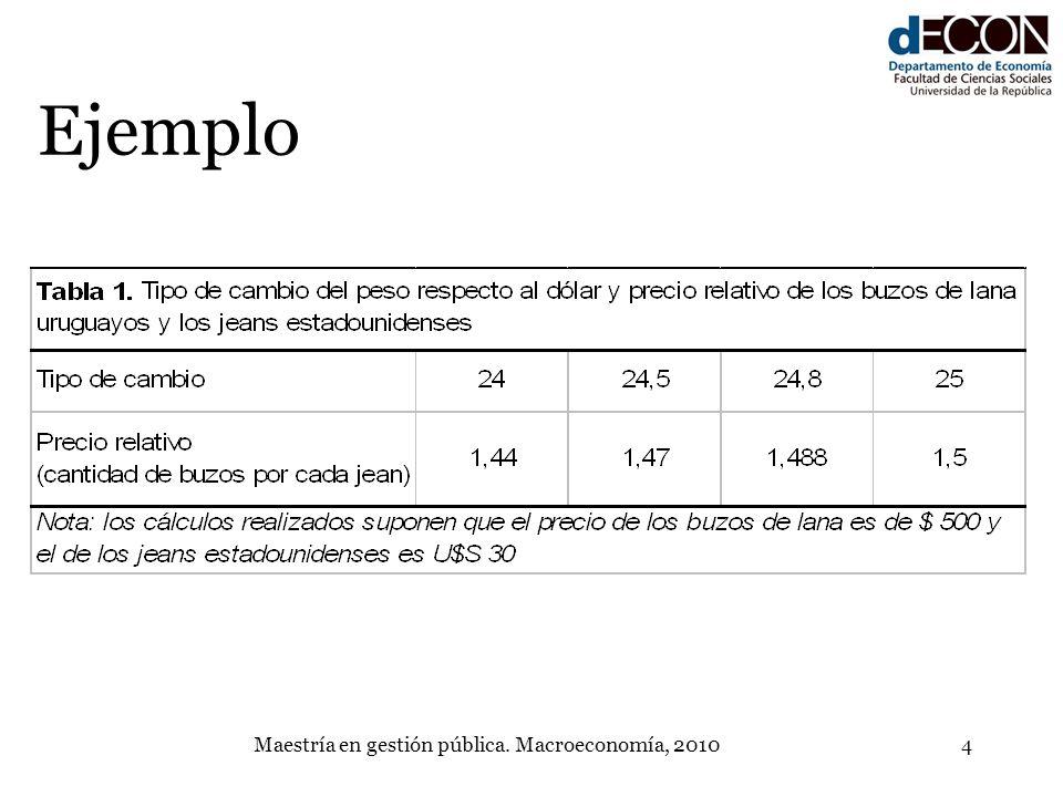 Maestría en gestión pública. Macroeconomía, 20104 Ejemplo