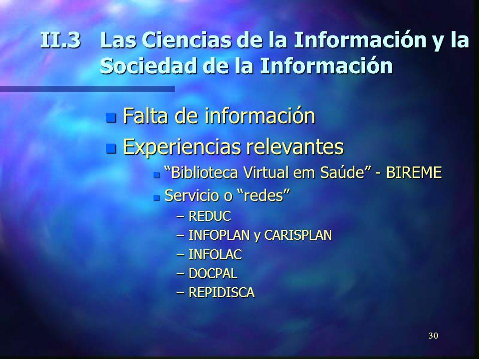 29 n Instituciones Latinoamericans Participantes n Mexico: Cooperación Universitaria para el Desarrollo de Internet (CUDI) n Chile:Red Universitaria Nacional (REUNA) n Brazil:Rede Nacional de Pesquisas (RNP2) I.bInternet-2