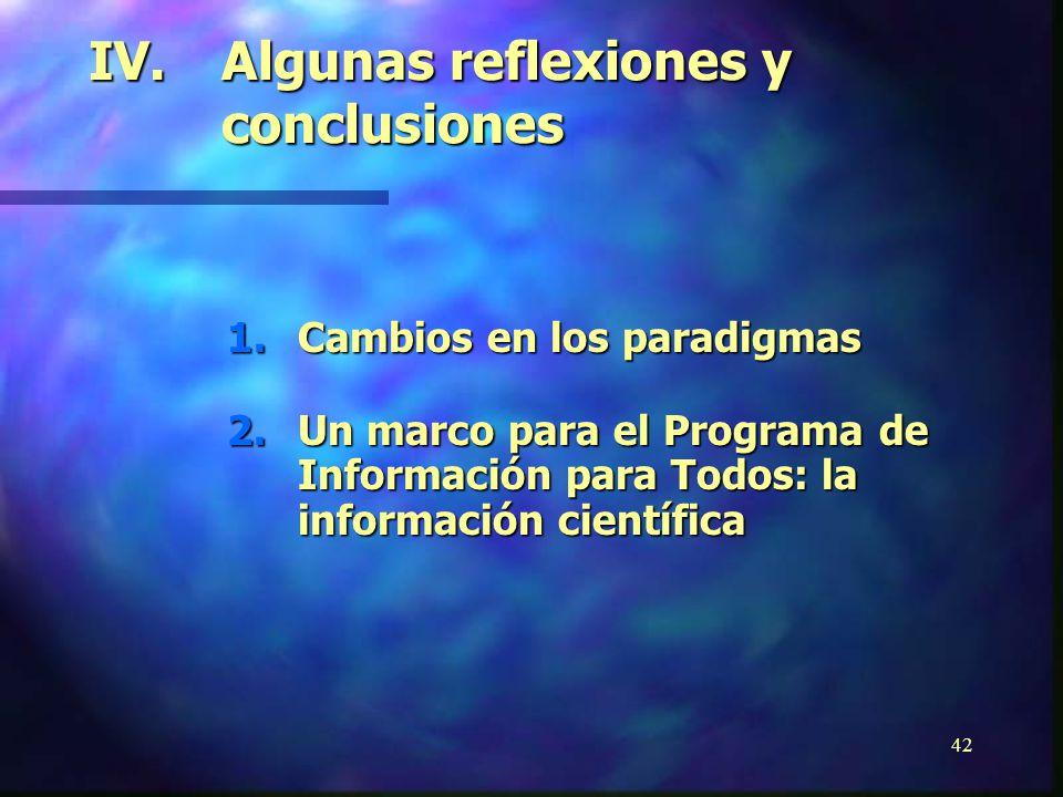 41 El Futuro Próximo Bienio 2002-2003 n Acceso a la información, particularmente en el Dominio Público (Programa Principal V: Comunicación e Informaci