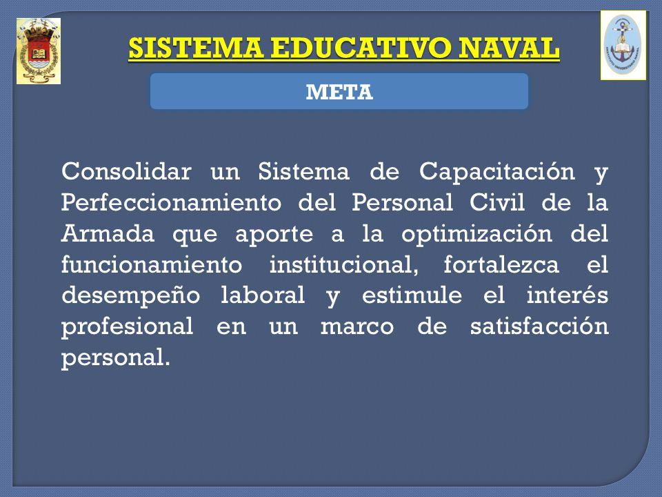 Consolidar un Sistema de Capacitación y Perfeccionamiento del Personal Civil de la Armada que aporte a la optimización del funcionamiento instituciona