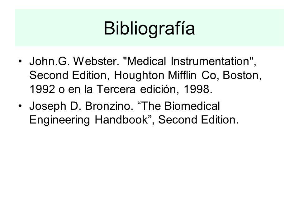 Bibliografía John.G. Webster.