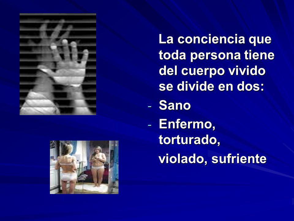 La conciencia que toda persona tiene del cuerpo vivido se divide en dos: La conciencia que toda persona tiene del cuerpo vivido se divide en dos: - Sa