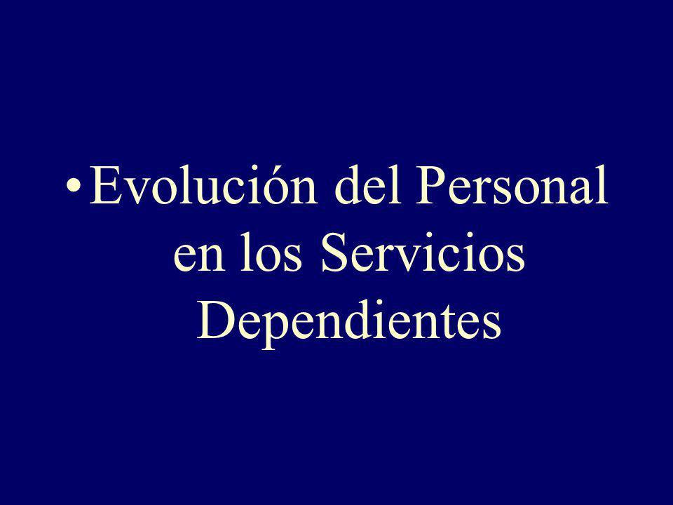 Evolución del Personal en los Servicios Dependientes