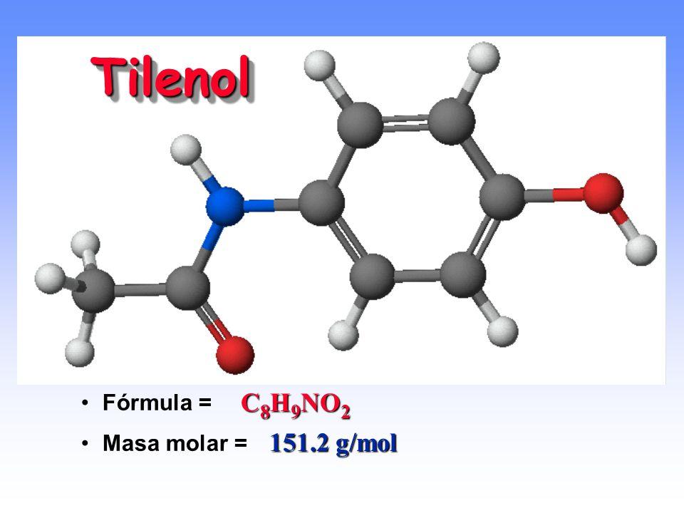 ¿Cuál es la masa molar del etanol (C 2 H 6 O)? 1 mol de etanol contiene: 2 mol de C (12.01 g de C/1 mol) = 24.02 g de C 6 mol de H (1.01 g de H/1 mol)