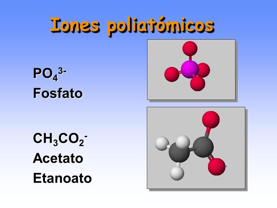 CO 3 2- Carbonato HCO 3 - Bicarbonato Hidrógeno carbonato