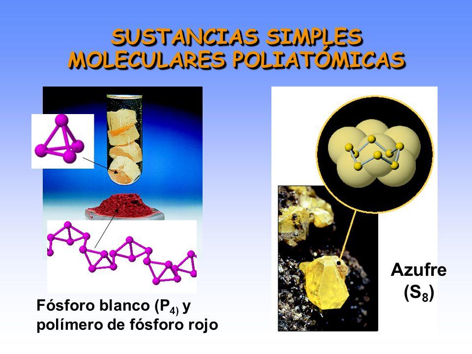 SUSTANCIAS SIMPLES MOLECULARES BIATÓMICAS (gases)