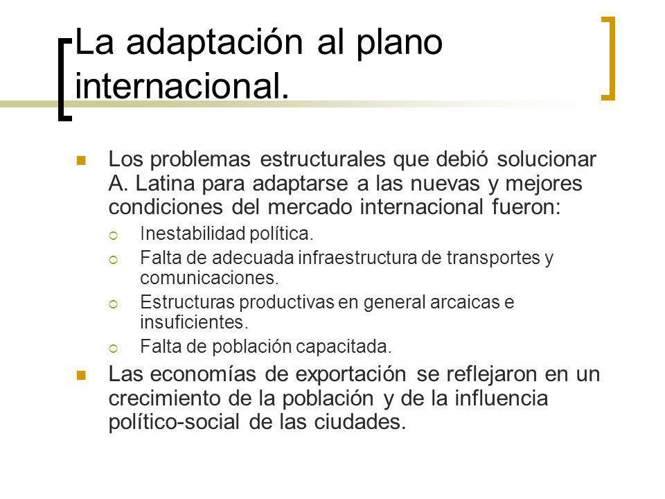 La adaptación al plano internacional. Los problemas estructurales que debió solucionar A. Latina para adaptarse a las nuevas y mejores condiciones del