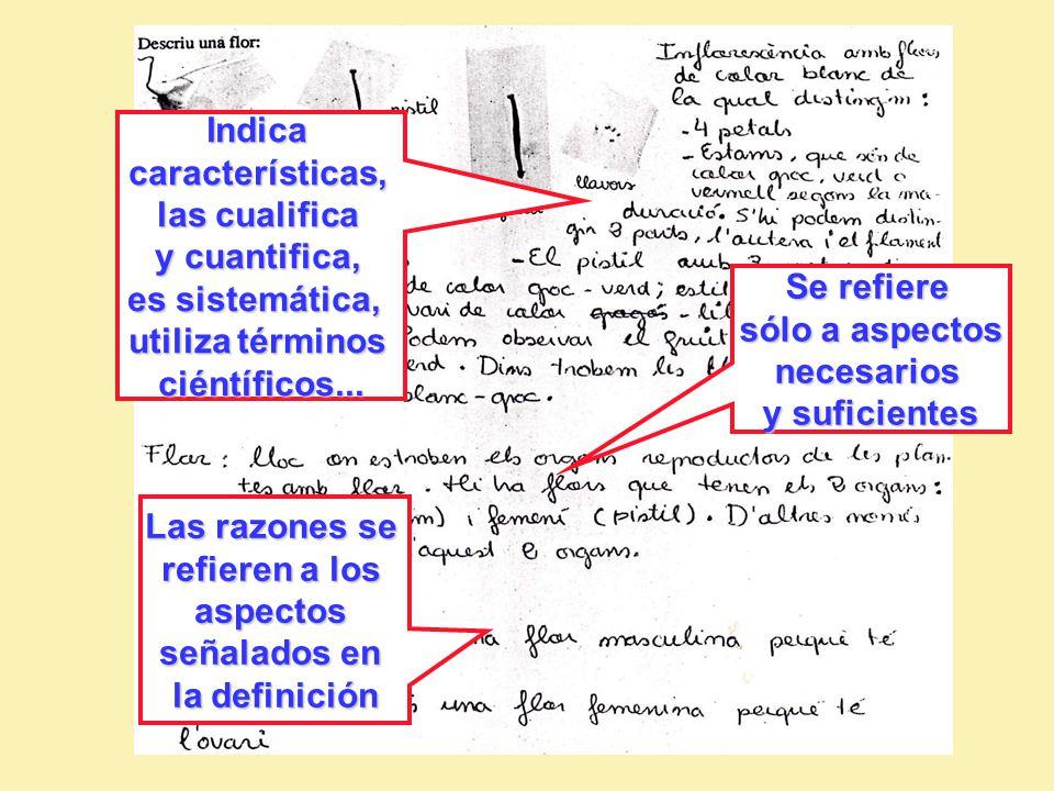 Indica características, las cualifica y cuantifica, es sistemática, utiliza términos ciéntíficos...