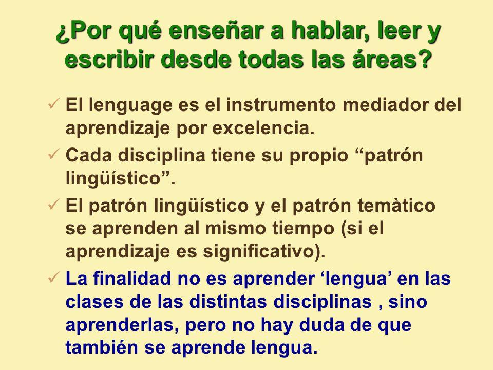 El lenguage es el instrumento mediador del aprendizaje por excelencia.