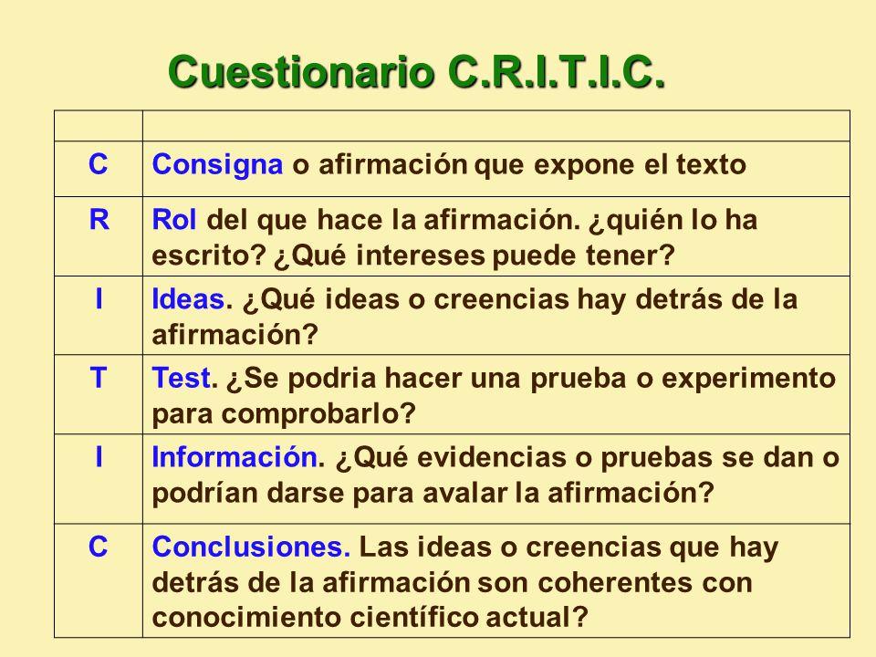 Cuestionario C.R.I.T.I.C.