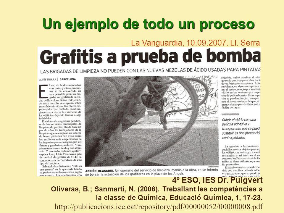 4º ESO, IES Dr.Puigvert Oliveras, B.; Sanmartí, N.