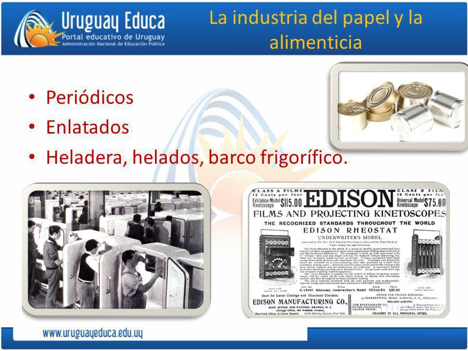 La industria del papel y la alimenticia Periódicos Enlatados Heladera, helados, barco frigorífico.