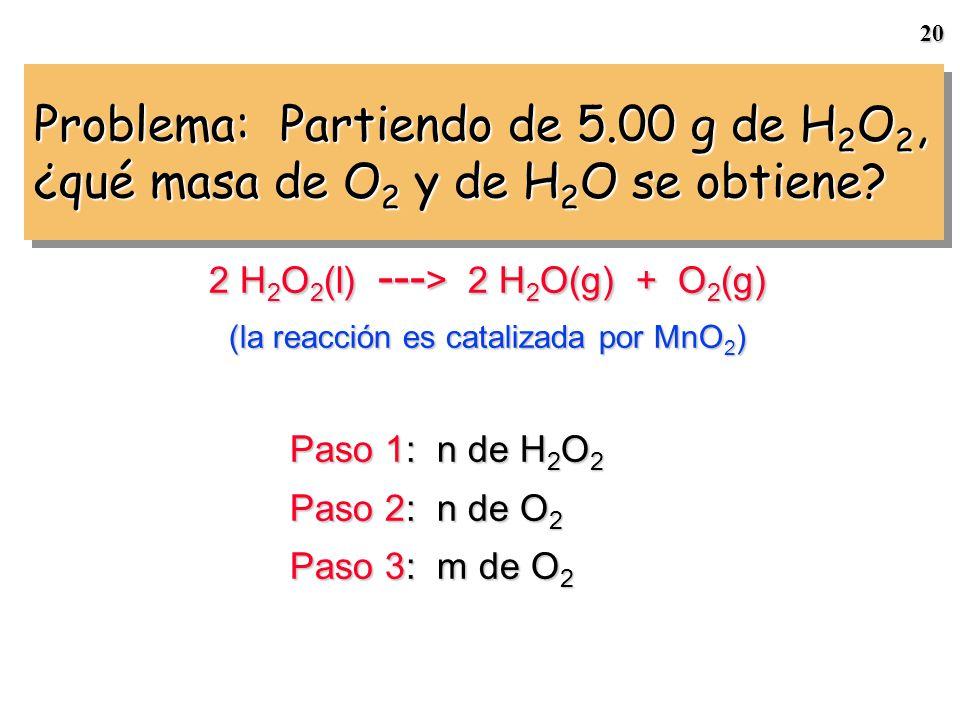 19 454 g de NH 4 NO 3 -- > N 2 O + 2 H 2 O Calculamos el rendimiento porcentual