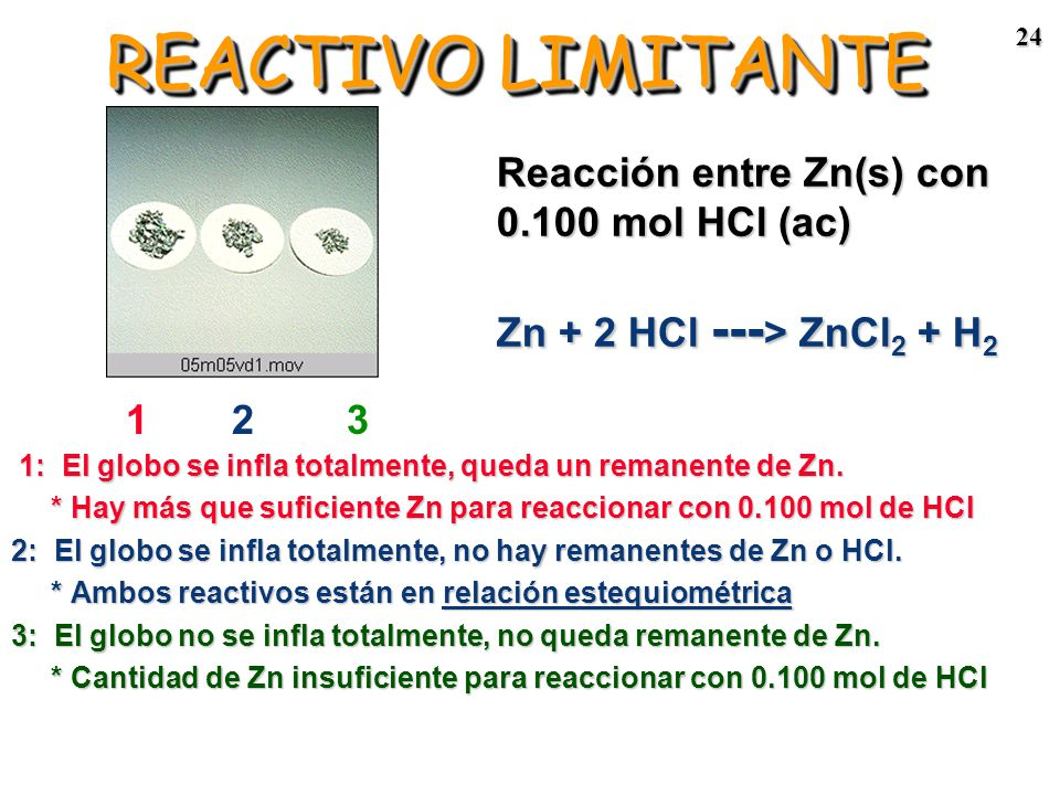 23 REACTIVO LIMITANTE