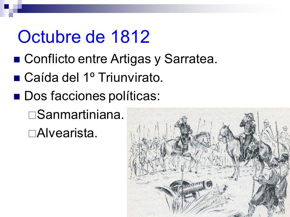 Octubre de 1812 Conflicto entre Artigas y Sarratea.