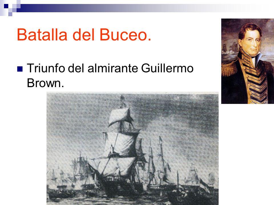 Batalla del Buceo. Triunfo del almirante Guillermo Brown.