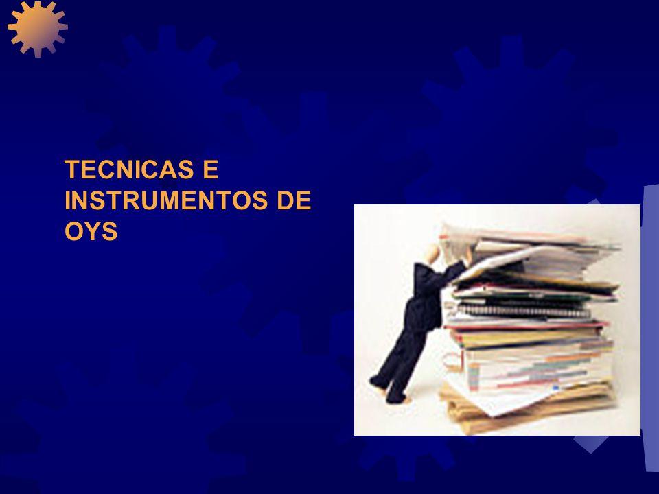 TECNICAS E INSTRUMENTOS DE ORGANIZACION Y SISTEMAS ¿QUE.