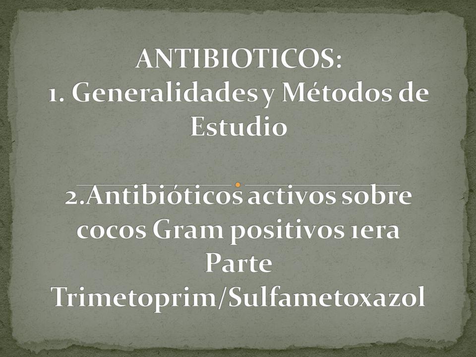 Molécula natural, sintética o semisintética capaz de inducir la muerte o detener el crecimiento de una población bacteriana.