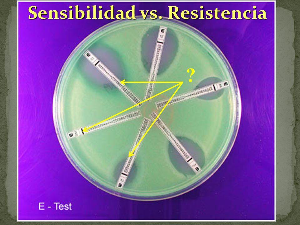 Sensibilidad vs. Resistencia ?