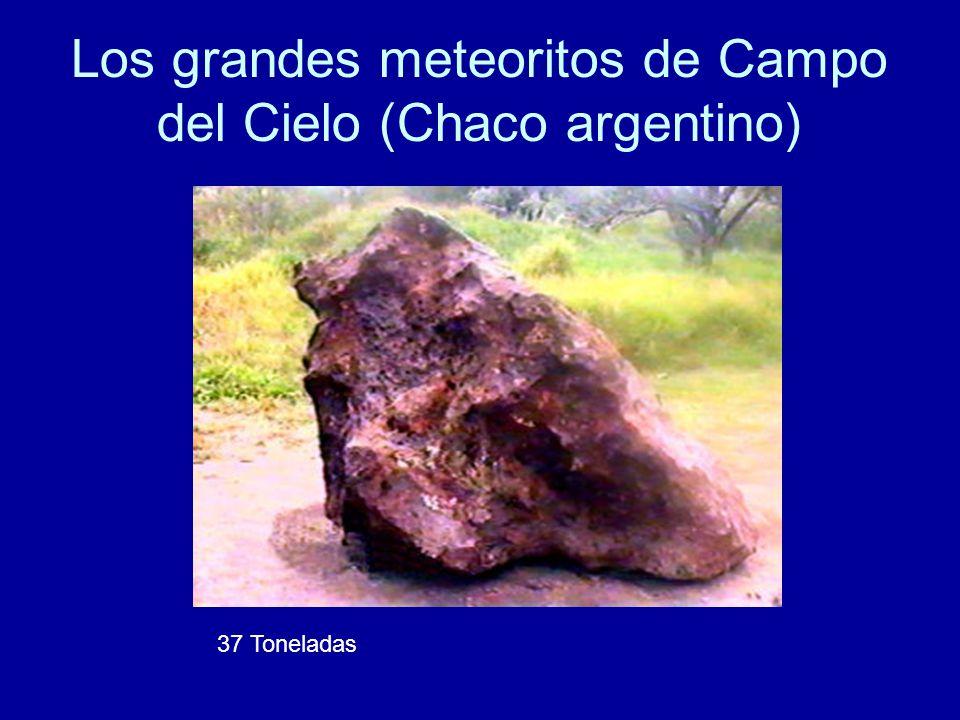 Los grandes meteoritos de Campo del Cielo (Chaco argentino) 37 Toneladas