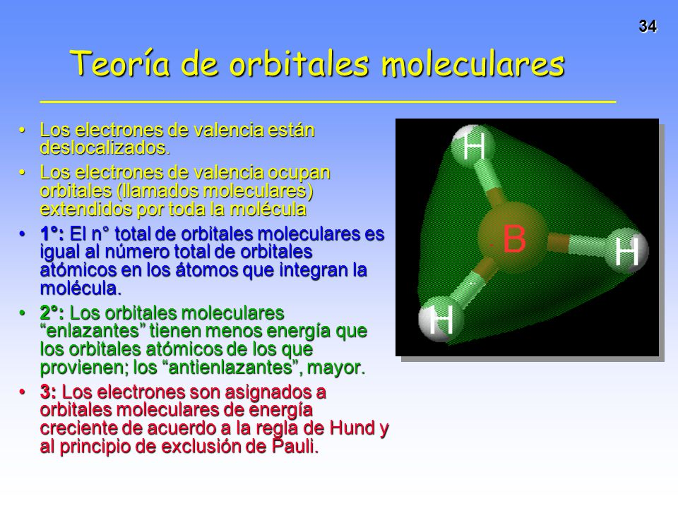34 Los electrones de valencia están deslocalizados.Los electrones de valencia están deslocalizados. Los electrones de valencia ocupan orbitales (llama