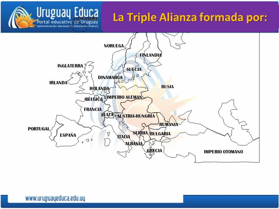 PORTUGAL IMPERIO ALEMAN AUSTRIA-HUNGRÍA RUSIA INGLATERRA FRANCIA ESPAÑA ITALIAISLANDIANORUEGA FINLANDIA DINAMARCA HOLANDA IRLANDA BÉLGICA ALBANIA SUIZ