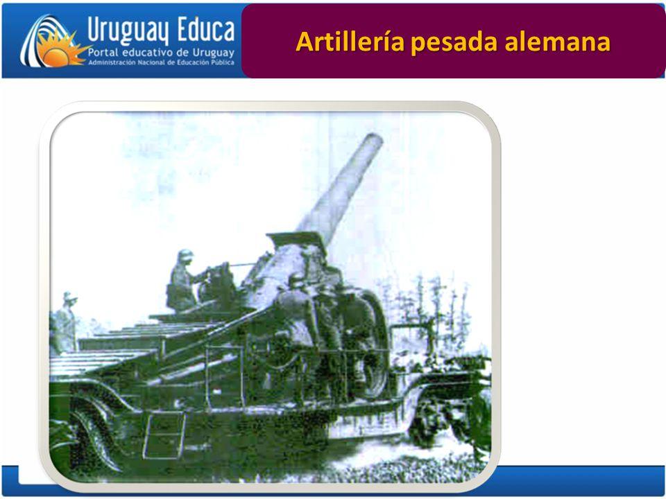 Artillería pesada alemana