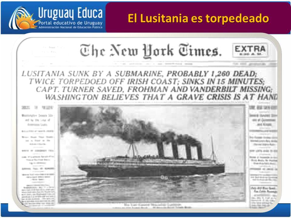 El Lusitania es torpedeado