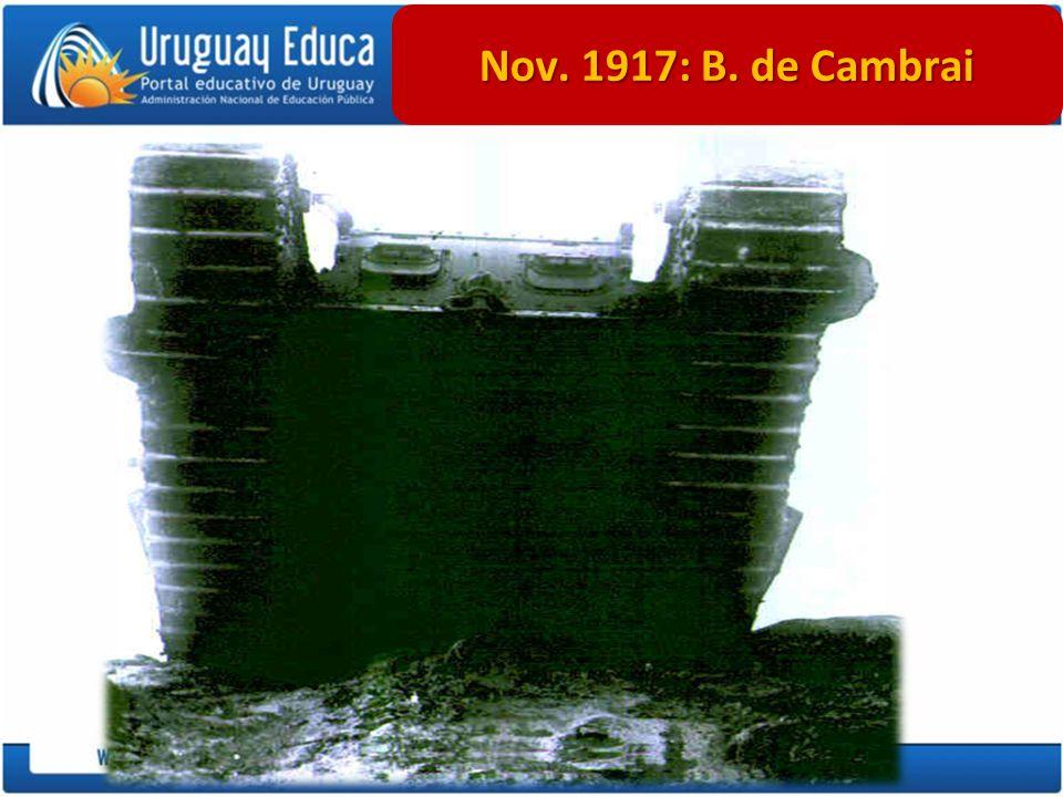 Prof. Daniel Barragán Nov. 1917: B. de Cambrai