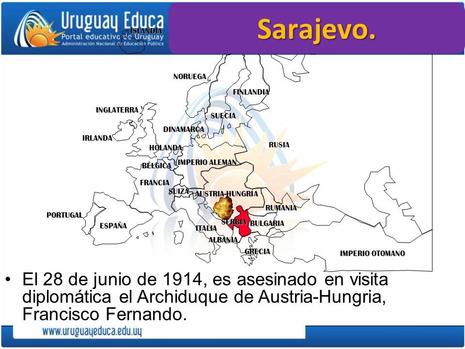 Las naciones centrales (T.Alianza) –Bloque territorial compacto.