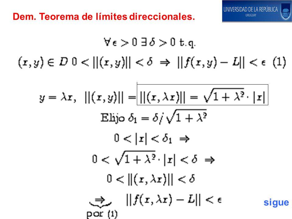 Dem. Teorema de límites direccionales. sigue