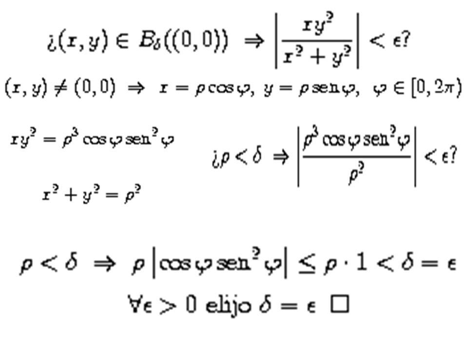 EJEMPLO. Calcular si existe, el siguiente límite: sigue