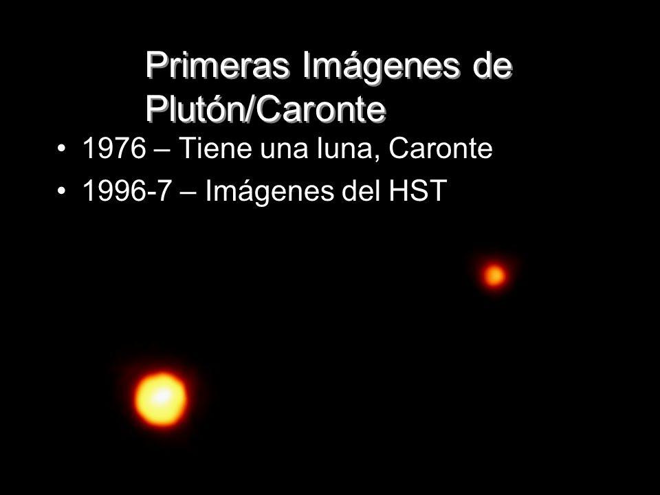 Primeras Imágenes de Plutón/Caronte 1976 – Tiene una luna, Caronte 1996-7 – Imágenes del HST