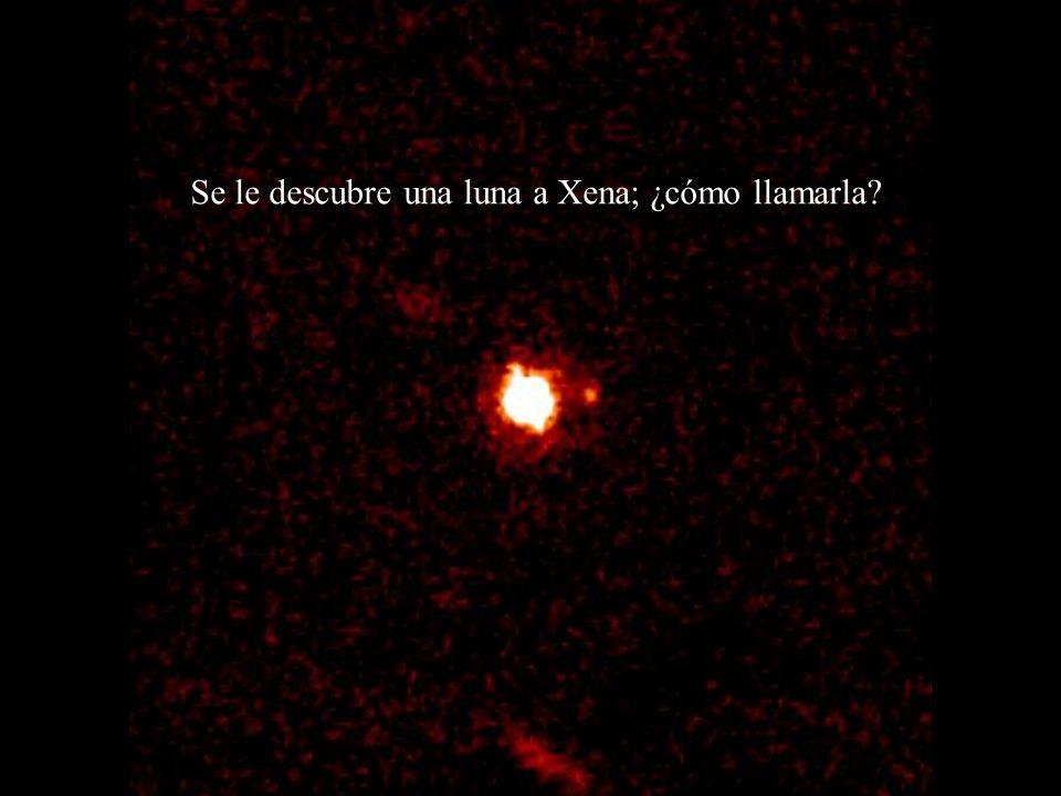 Se le descubre una luna a Xena; ¿cómo llamarla?