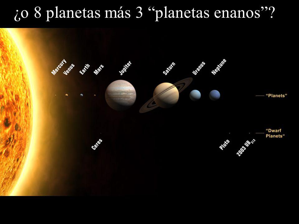 ¿o 8 planetas más 3 planetas enanos?
