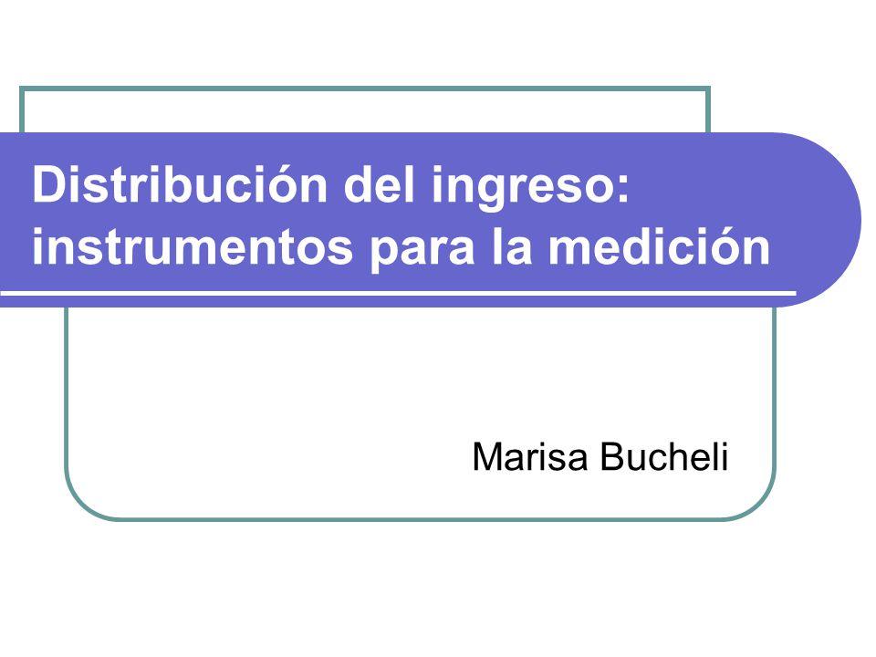 Distribución del ingreso: instrumentos para la medición Marisa Bucheli