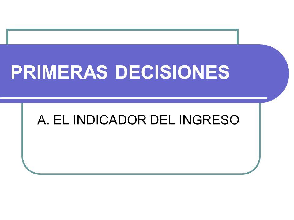 A.EL INDICADOR 1.