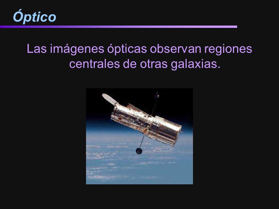 Óptico Las imágenes ópticas observan regiones centrales de otras galaxias.