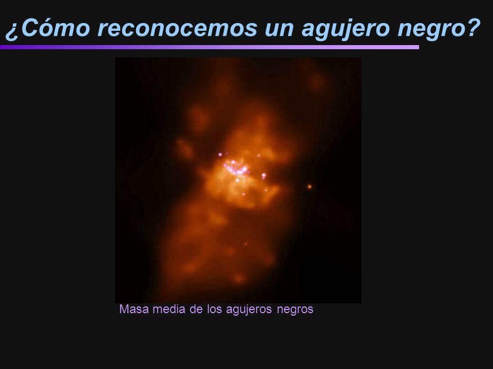 ¿Cómo reconocemos un agujero negro? Masa media de los agujeros negros http://antwrp.gsfc.nasa.gov/apod/ap000914.html