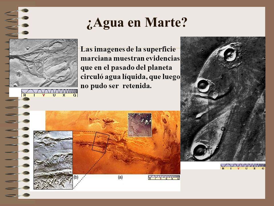 ¿Agua en Marte? Las imagenes de la superficie marciana muestran evidencias que en el pasado del planeta circuló agua líquida, que luego no pudo ser re