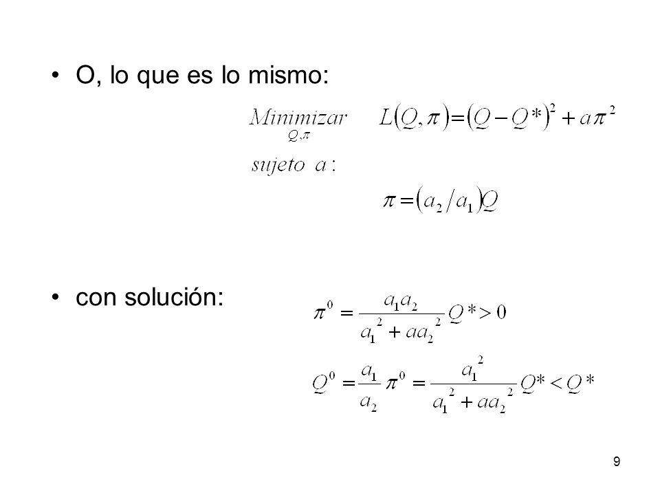 9 O, lo que es lo mismo: con solución: