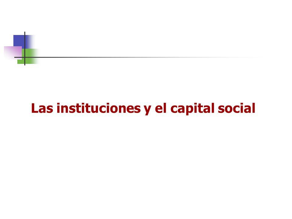 Las instituciones y el capital social